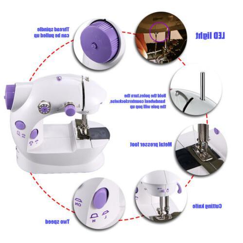 Mini 2-Speed Sewing Machine Electric Desktop Household Tailo