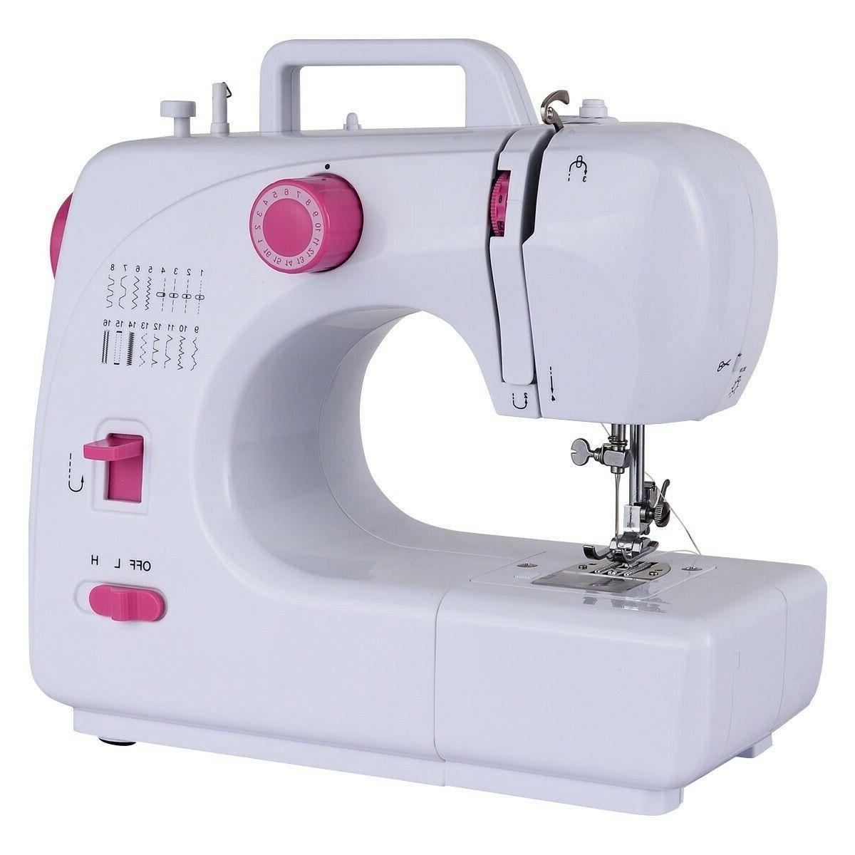 Free-Arm Crafting Sewing Machine with 16 Built-in Stitches