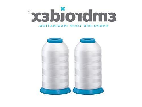huge white spools bobbin thread