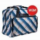 Janome Sewing Machine Tote in Blue Gray Plaid New