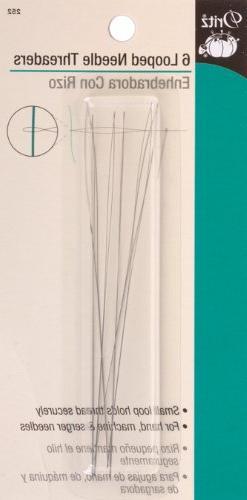 Looped Needle Threader-6/Pkg