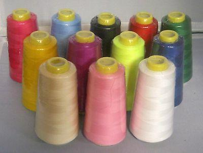 LOT OF 12 SPOOLS - 12 colors Polyester Sewing Machine Thread