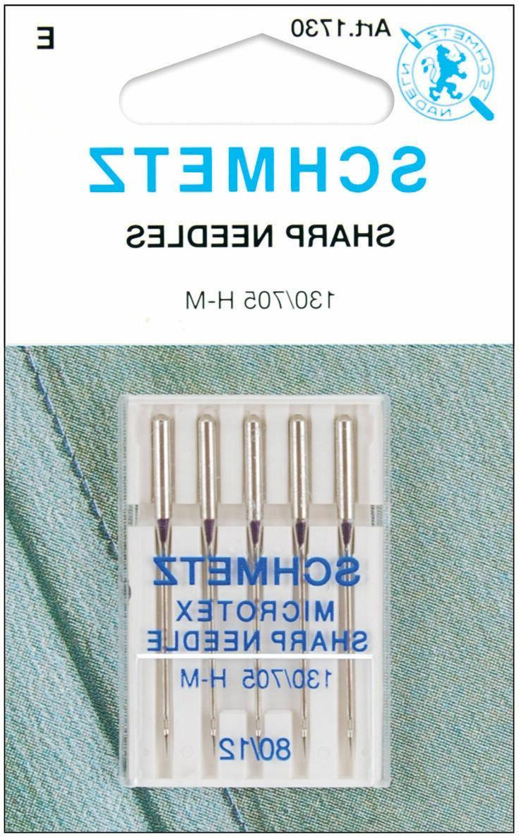microtex sharp machine needles 12