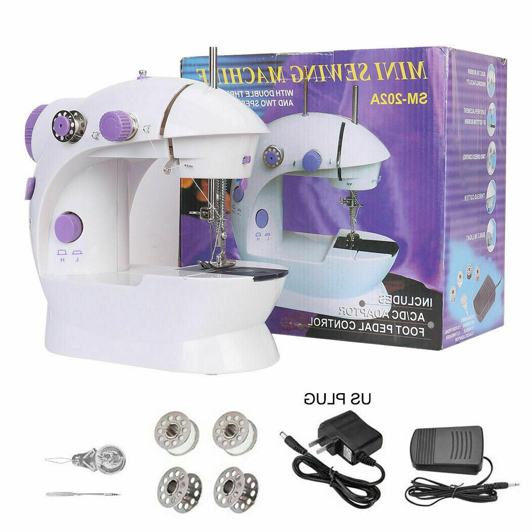 mini automatic dual speed double thread stitching