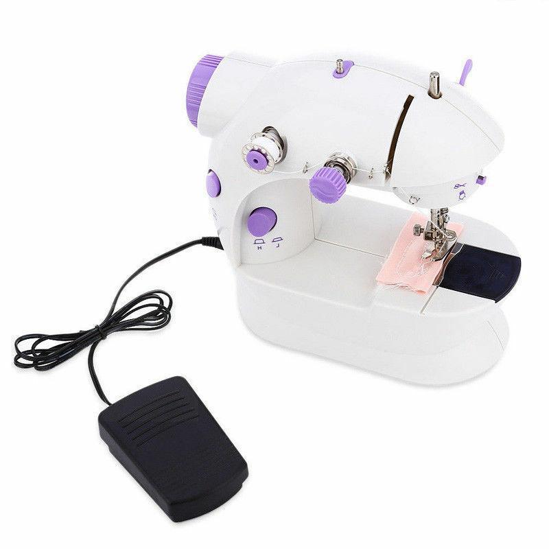 Mini Desktop Sewing Machine Electric Portable Double Speed Light