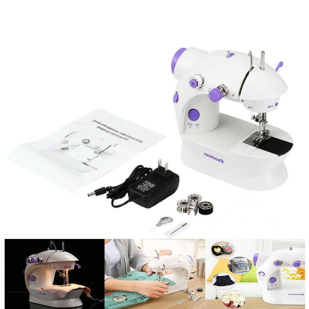 Mini Electric Portable Sewing Machine Pedal Crafting NEW