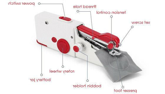 Mini Portable Tailor Hand-held Machine Home Travel
