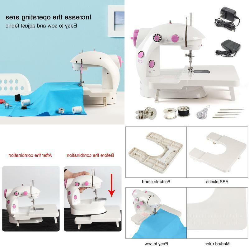 mini sewing machine portable electric adjustable 2