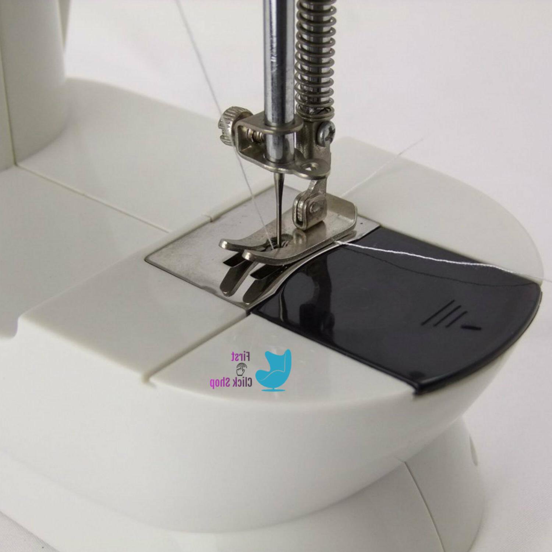 Mini Sewing Machine Sew 2-Speed Portable Desktop Handheld Household Easy To