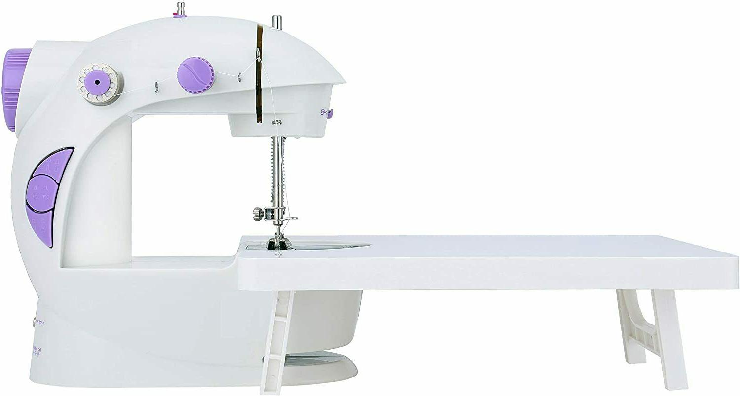 mini sewing machine with extension table brand