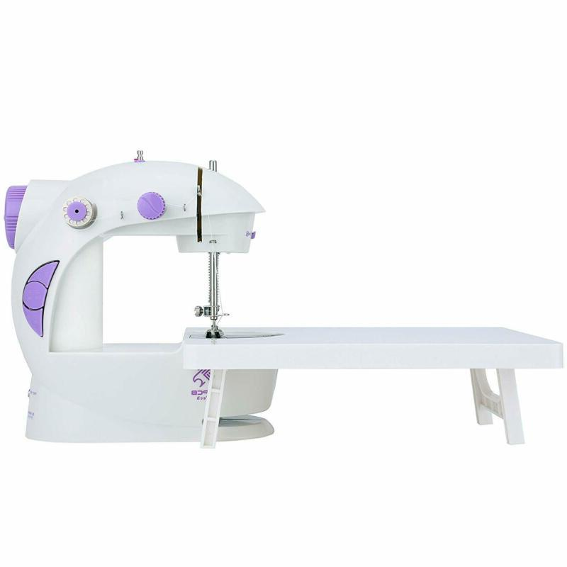 mini sewing machine with extension table