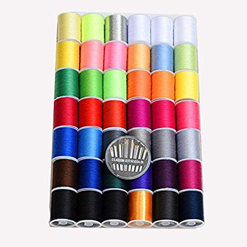 mixed purpose polyester sewingthread spools