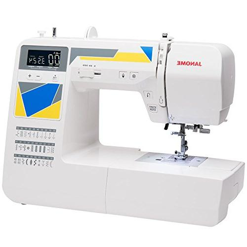 Janome Machine 30 Built-In Stitches, One-Step Buttonholes, Drop