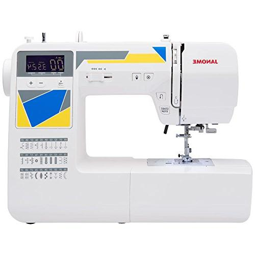 Janome Machine with Built-In Stitches, 3 Buttonholes, Drop Feed and