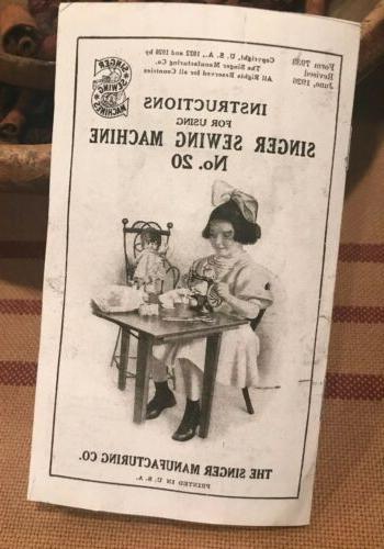 model no 20 vintage child s sewing