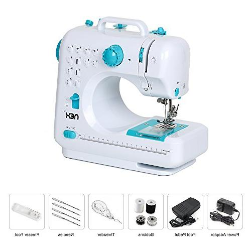 NEX Multi-Function Electric Sewing Machine use Portable Adjustable Thread Crafting Mending Foot Pedal