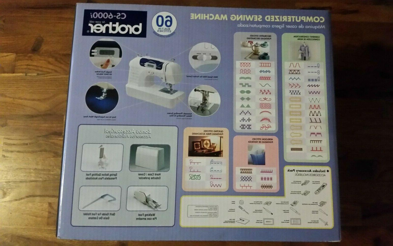 new cs6000i 60 stitch computerized sewing machine