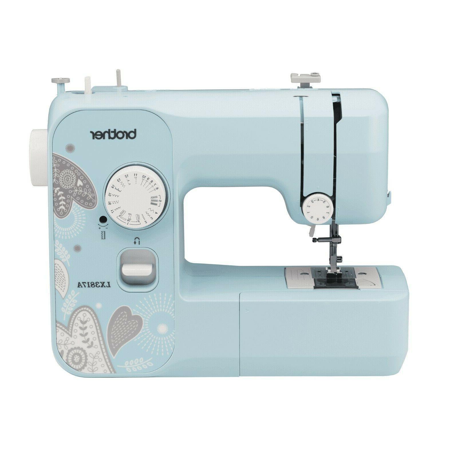 NEW Brother Full-Size Sewing Machine 17 Stitch LX3817A Turqu