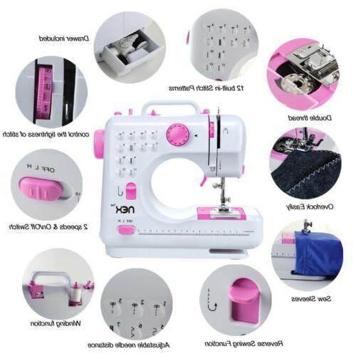 mini sewing machine 12 built in stitches