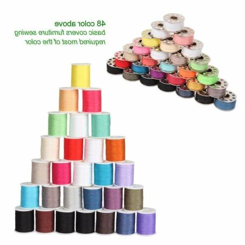 NEX  60pcs Sewing Thread Mixed Colors Sewing Kit For Sewing