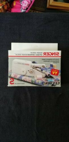 PORTABLE Hand Held Singer Handy Stitch Mechanical Sewing Mac