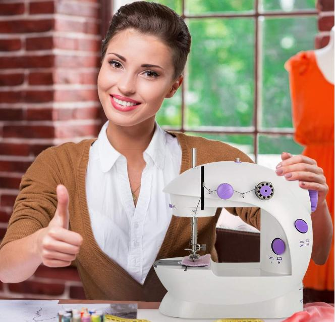 Portable Multifuncational Mini Stitches Household w/Pedal
