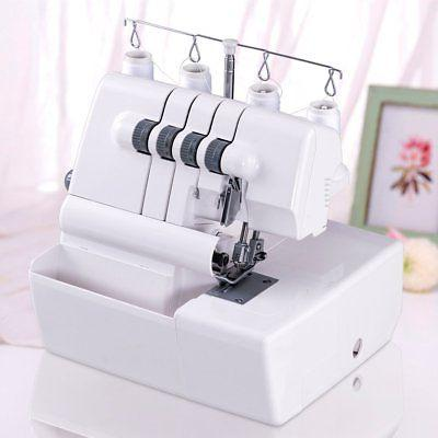 COSTWAY Portable Serger Sewing Machine 2 Needle 4 Thread Cap