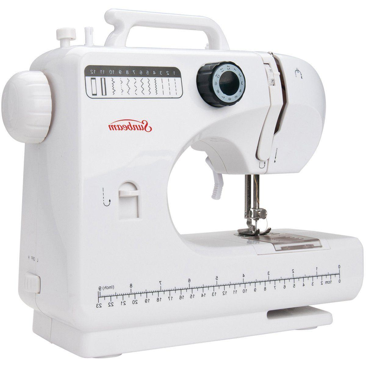 portable sewing machine compact 4 step button