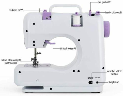 Portable Sewing Machine Mini Electric Household Crafting Sewing