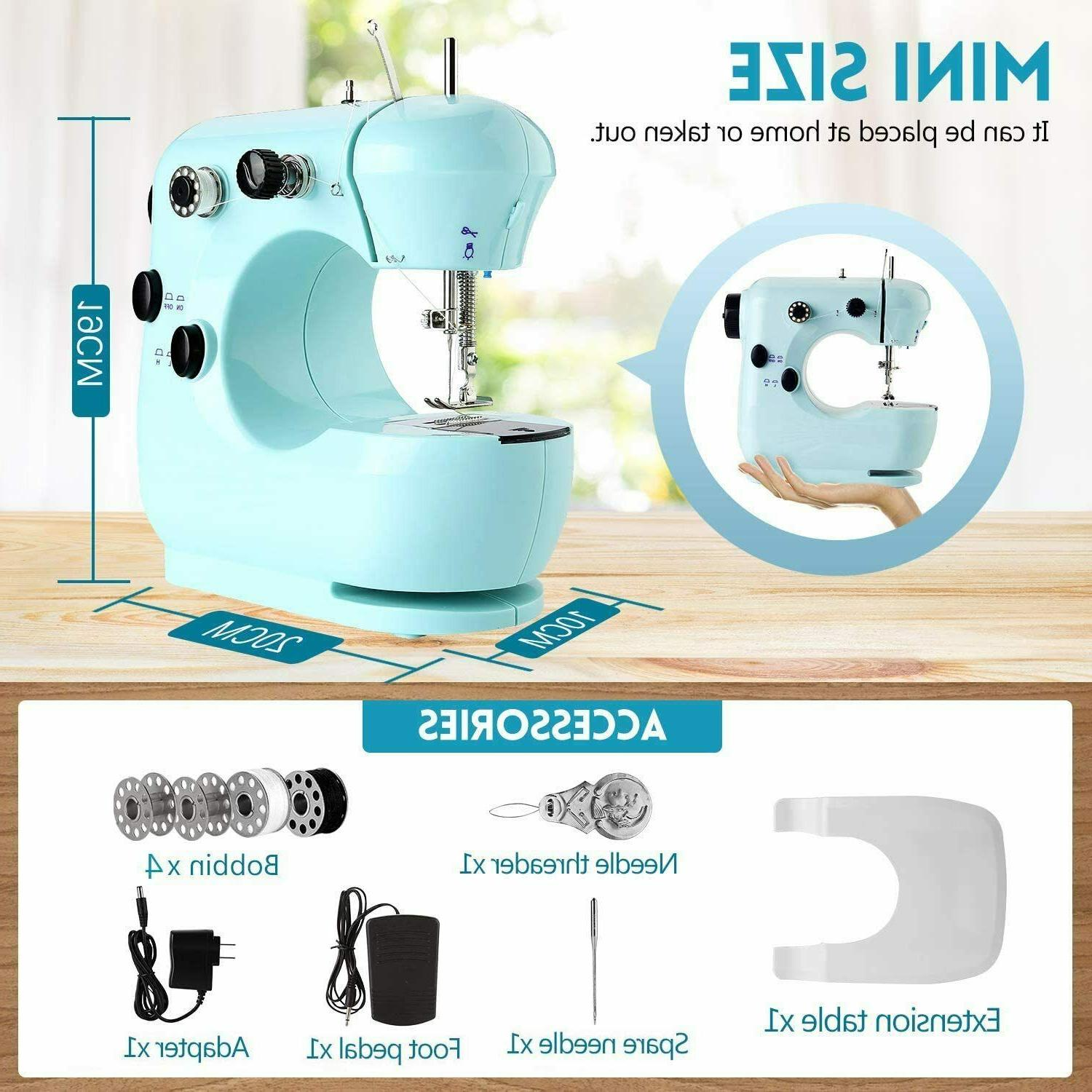 Portable Sewing Machine Mini Sewing Machine with Extension f
