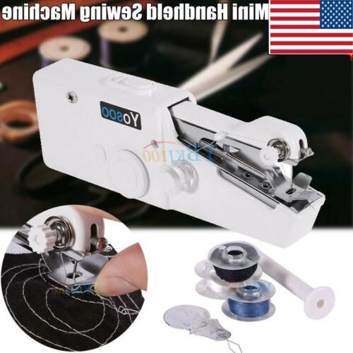 Portable Stitch Sew Hand Held Quick Sewing Machine Handy Cor