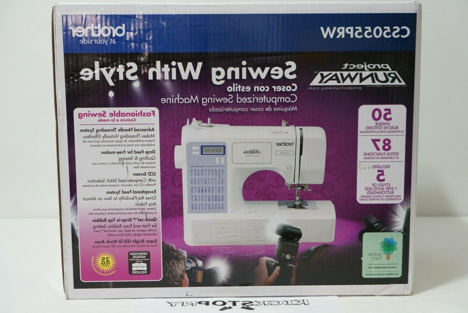 project runway cs5055prw electric sewing machine in
