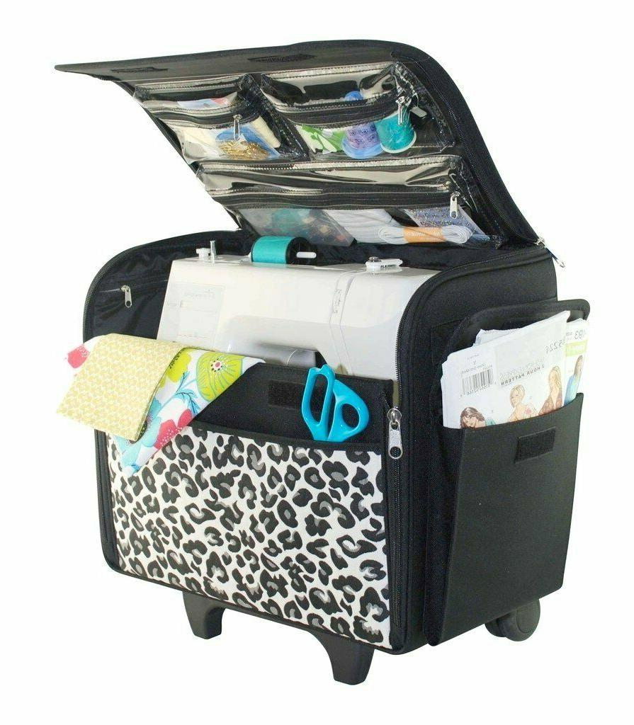 Sewing Machine Case Rolling Travel Bag Storage Carry Tote Ch