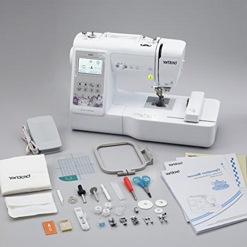 """Brother Computerized Sewing and Embroidery Machine 4"""" 4"""" Embroidery Area, Embroidery 103 Sewing White"""