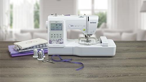 """Brother Sewing Computerized Sewing Machine with 4"""" Embroidery Area, Embroidery Designs, Sewing White"""