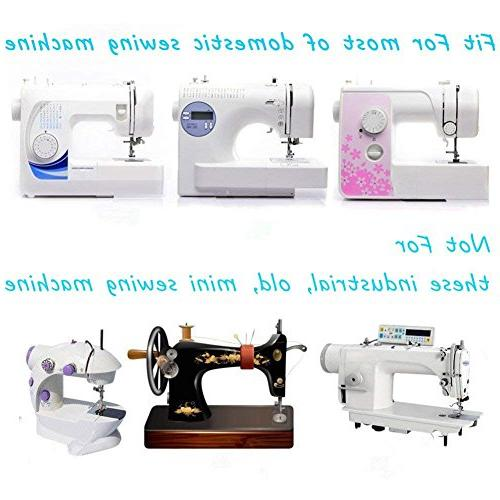 Eurlove Sewing Machine Presser Feet Set pcs Singer, New Home, Simplicity, Kenmore, White Shank