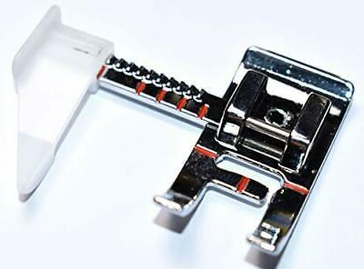 sewing machine presser foot with adjustable guide