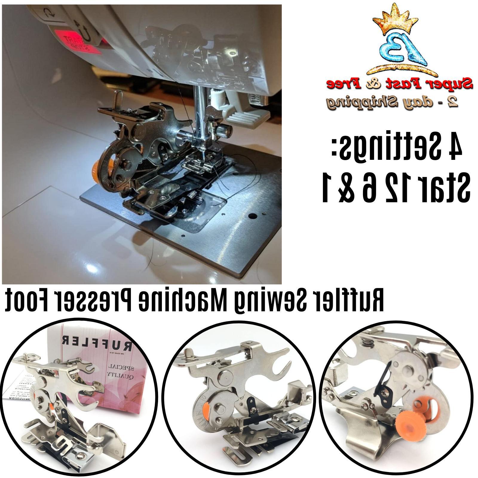 sewing machine ruffler presser foot make ruffles