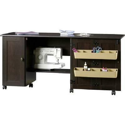 Sewing Machine Table Cabinet Cart Station Sew Craft Desk Tab