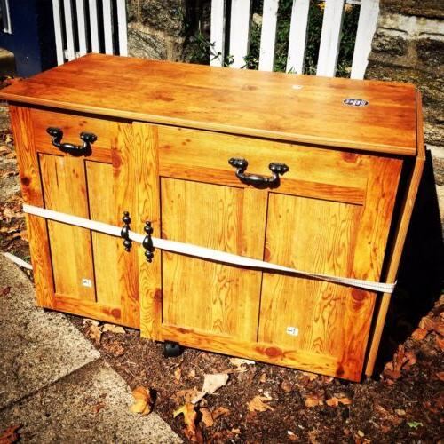 Sauder Sewing MACHINE TABLE Craft Storage CABINET Sauder Des