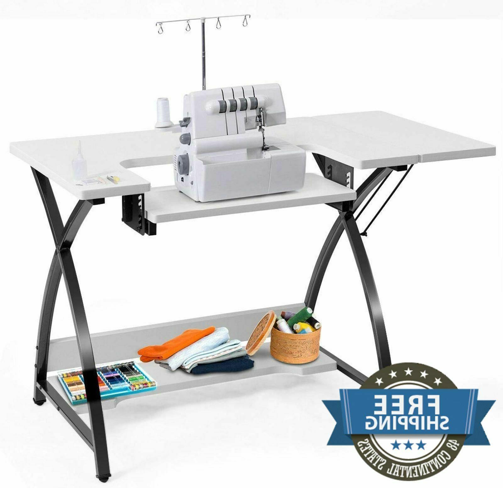 Sewing Machine Table Top Vintage Adjustable Platform Antique