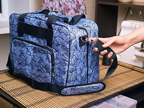 Kenley Sewing Bag Storage Cover Pockets and Handles - Universal 18x10x13 Janome