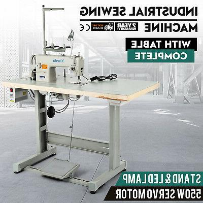 sewing machine with table servo motor stand
