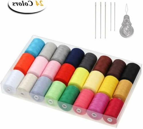 Sewing Thread 24 1000 Yards Cotton Sets Spools for