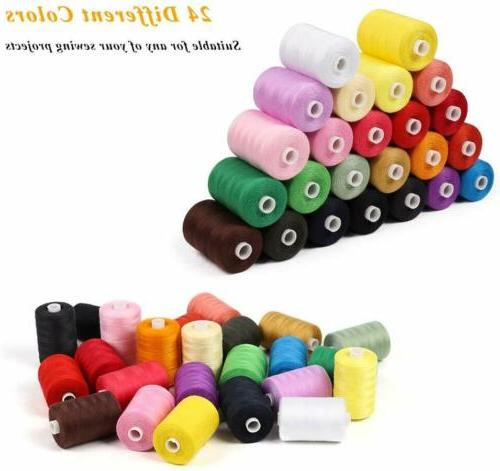 Sewing 1000 Yards Cotton Thread Sets Thread Sewing