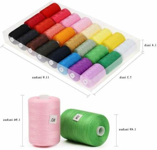Sewing 24 1000 Yards Cotton Sets Spools for Sewing