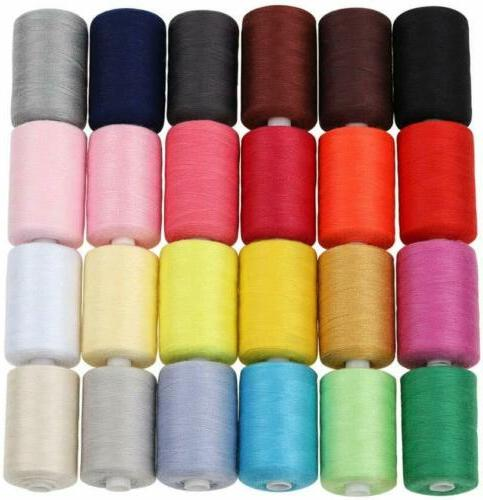 sewing thread 24 colors 1000 yards cotton