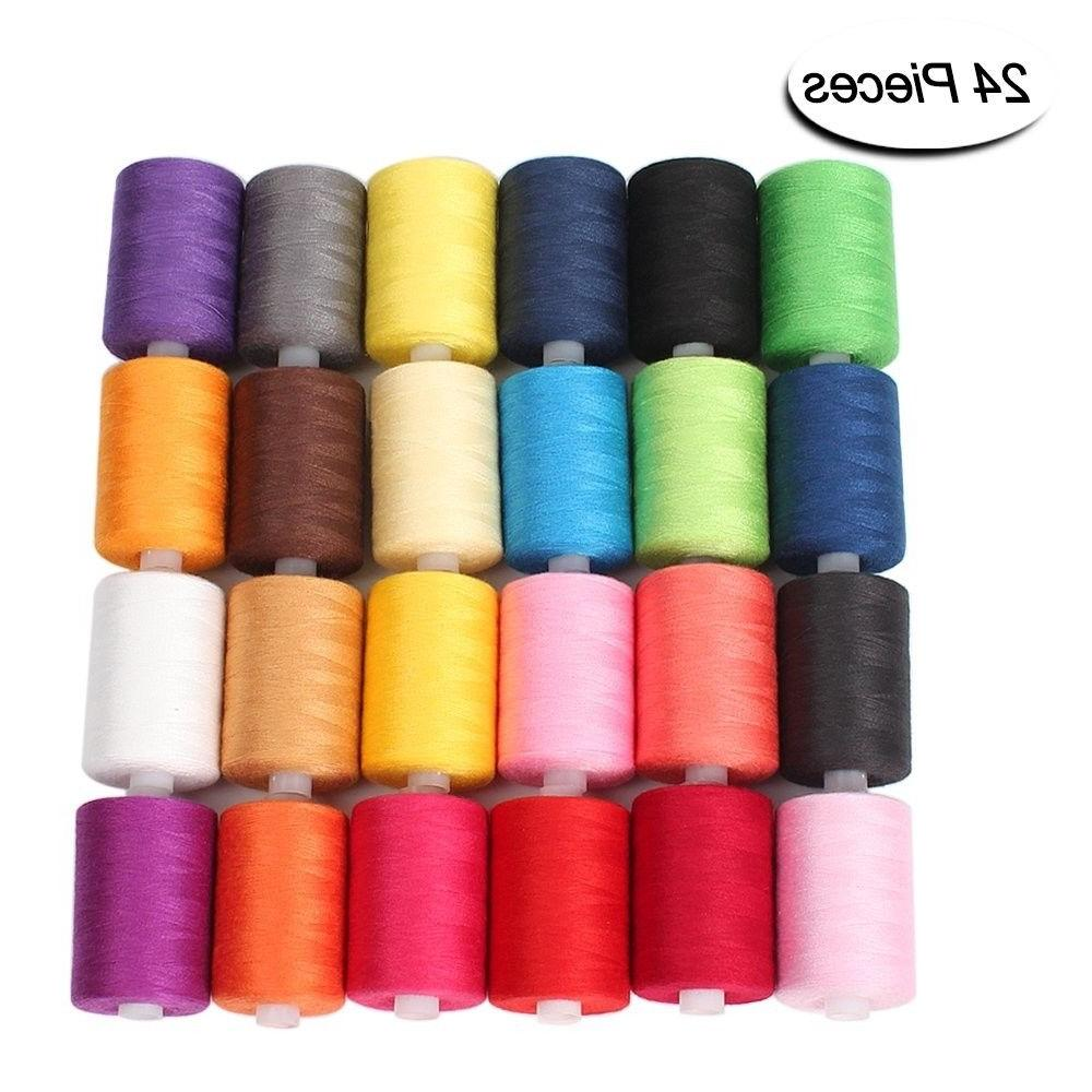 sewing thread 24 colors 1000 yards polyester