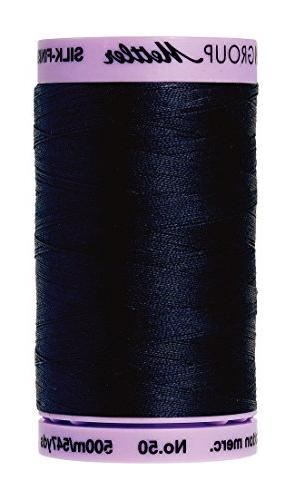 Silk Finish Cotton Thread 50Wt 547Yd-Dark Blue