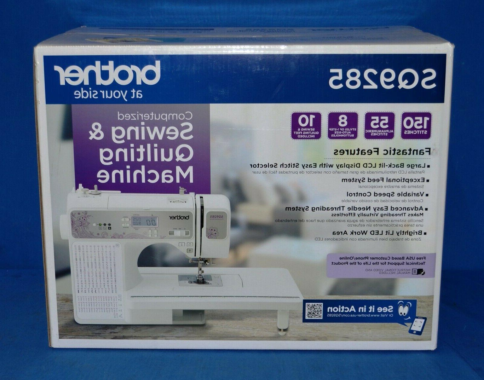 Brother Computerized Sewing Machine 150 Stitch 55 Alpha Nume